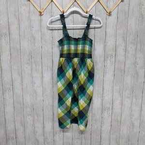 Motherhood Maternity Blue/Green/Yellow Mini Dress